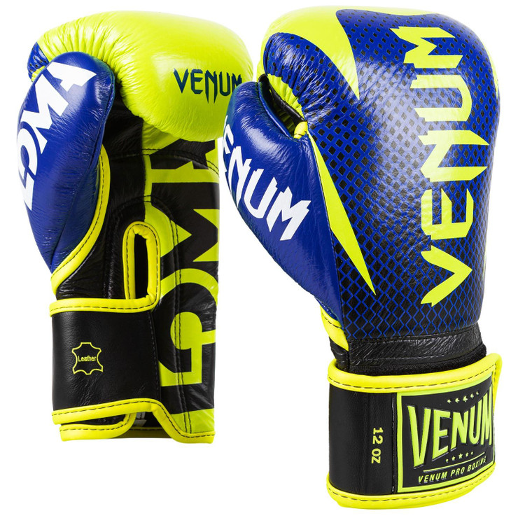 Venum Loma Edition Hammer Pro Boxing Gloves Blue/Yellow