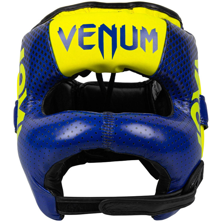 Venum Loma Edition Pro Boxing Head Guard  Blue/Yellow