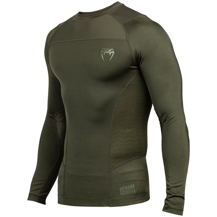 Venum G-Fit Long Sleeved Rash Guard Khaki