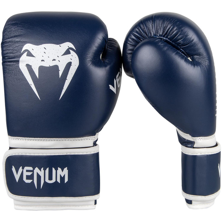 Venum Signature Kids Boxing Gloves Navy Blue