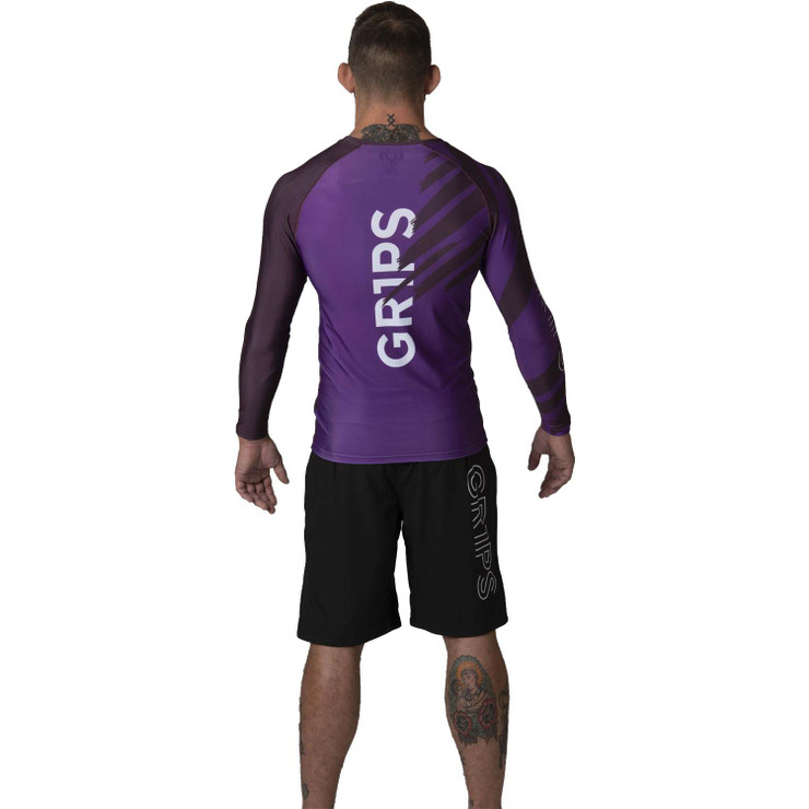 Gr1ps Essential Jiu-Jitsu Ranked Rash Guard Purple