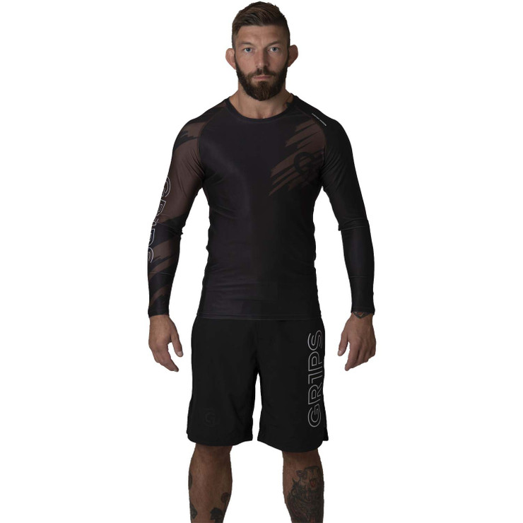 Gr1ps Essential Jiu-Jitsu Ranked Rash Guard Brown