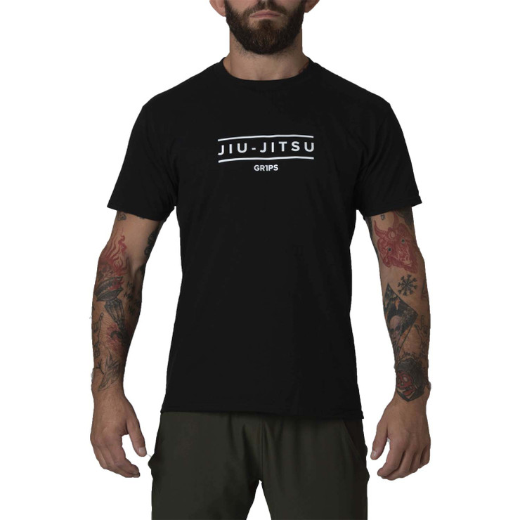 Gr1ps Essential Jiu-Jitsu T-Shirt Black/White