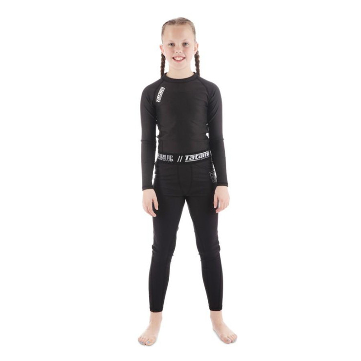 Tatami Fightwear Kids Black Nova Spats