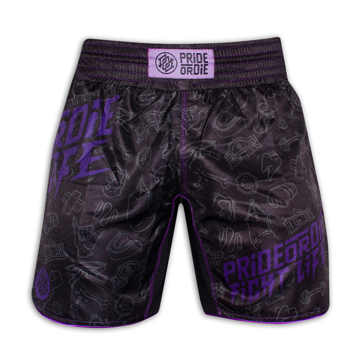 PRiDEorDiE Fight Life Fight Shorts
