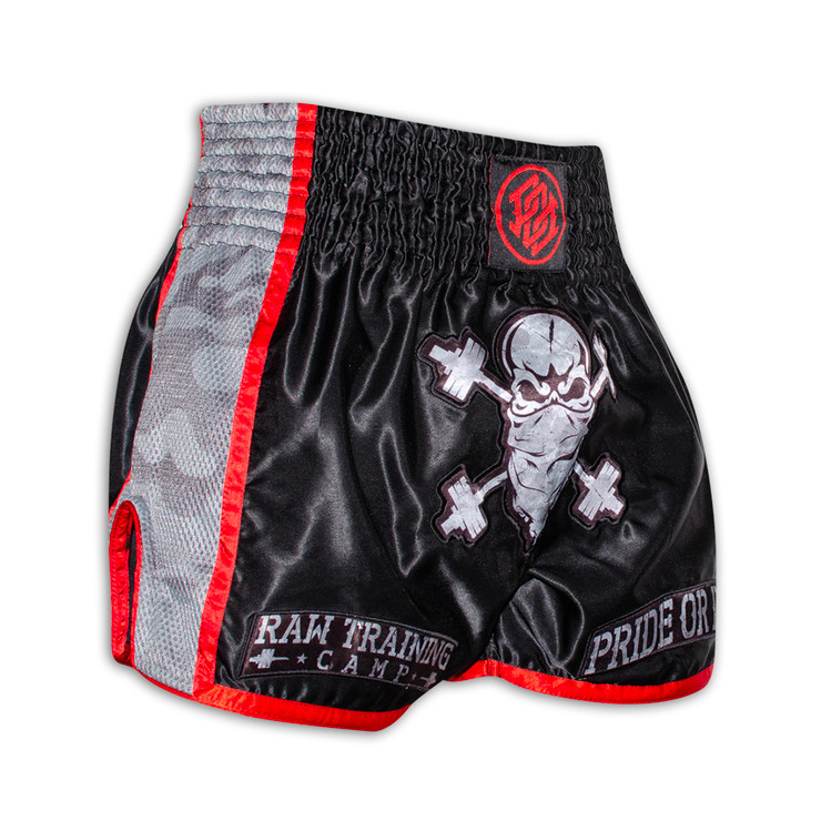 Pride Or Die Raw Training Camp Muay Thai Short Black/Red