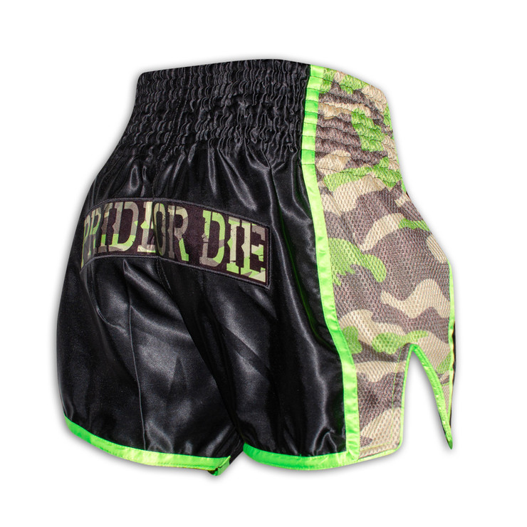 Pride Or Die Raw Training Camp Muay Thai Short Black/Camo
