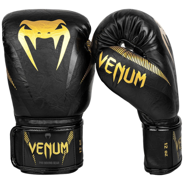 Venum Impact Boxing Gloves Gold/Black