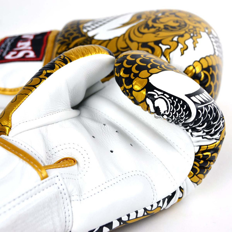 Twins FBGVL3-52 Nagas Boxing Gloves White/Gold