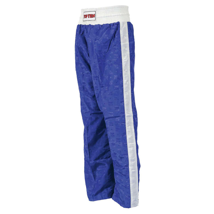 Top Ten Kids Classic Kickboxing Pants Blue/White