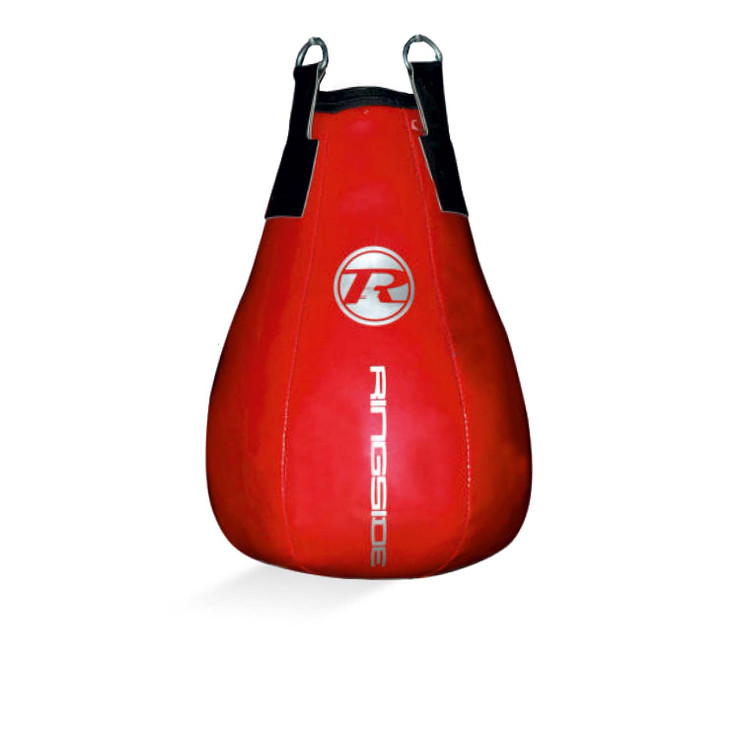 Ringside G2 Synthetic Leather Maize Punch Bag Metallic Red/Silver
