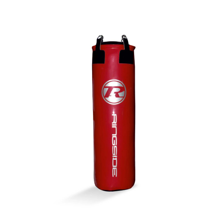 Ringside G2 Synthetic Leather 4ft Punch Bag Metallic Red/Silver