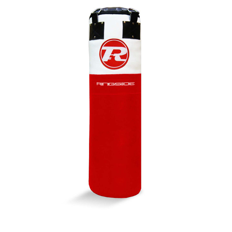Ringside Buffalo Leather 4ft Punch Bag Red/White
