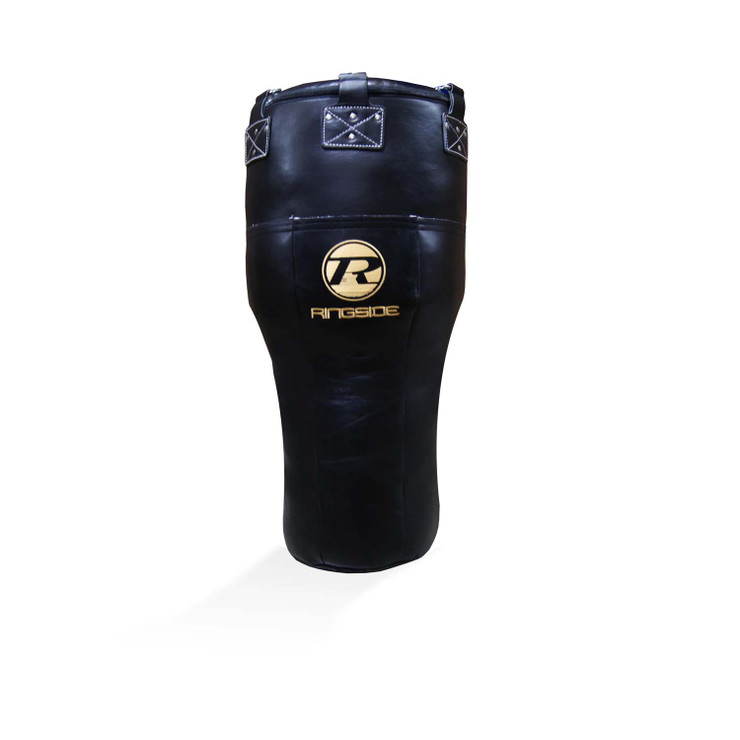 Ringside Buffalo Leather Angle Punch Bag Black/Gold