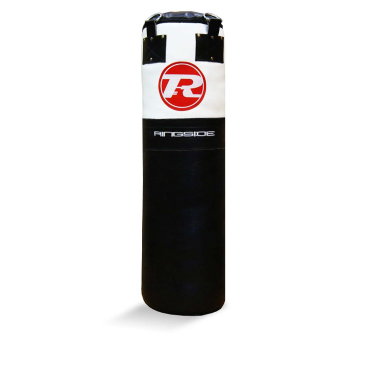 Ringside Buffalo Leather 4ft Punch Bag Black/White