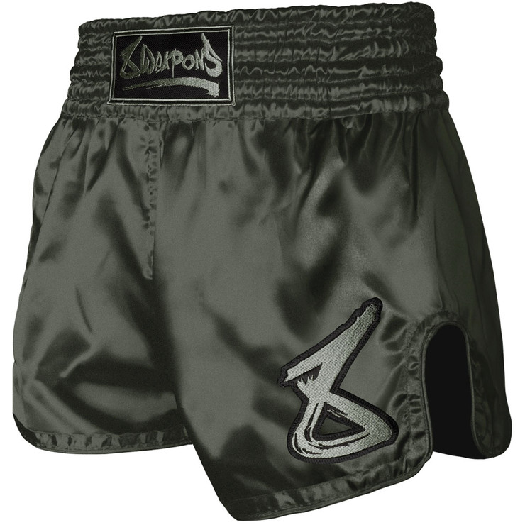 8 Weapons Strike Muay Thai Shorts Olive