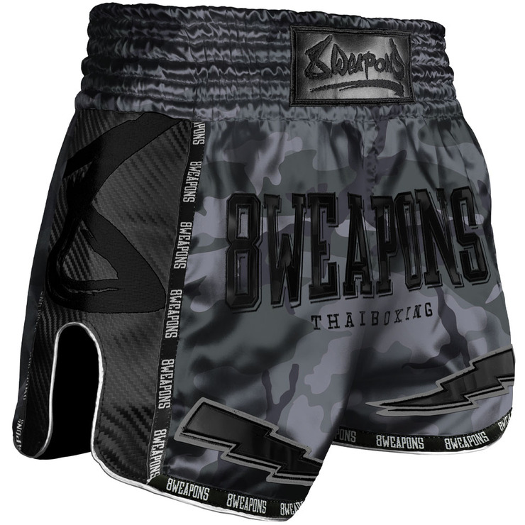 8 Weapons Night Camo Carbon Muay Thai Shorts