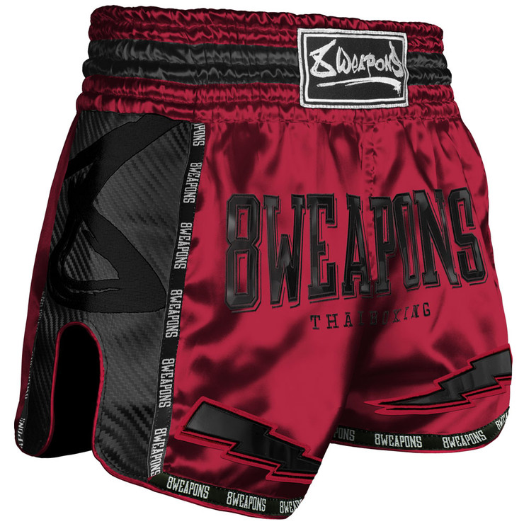 8 Weapons Red Dawn Carbon Muay Thai Shorts