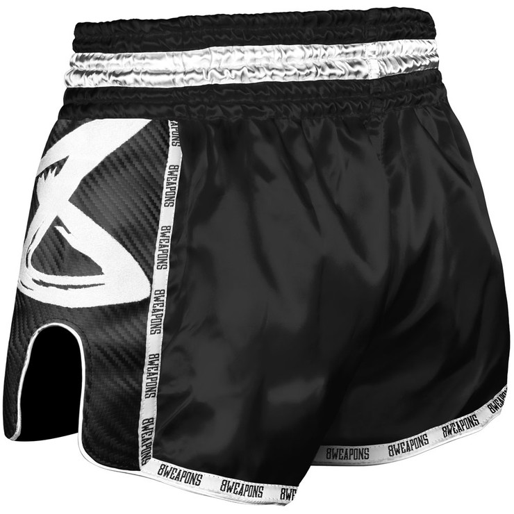 8 Weapons Black Night 2.0 Carbon Muay Thai Shorts