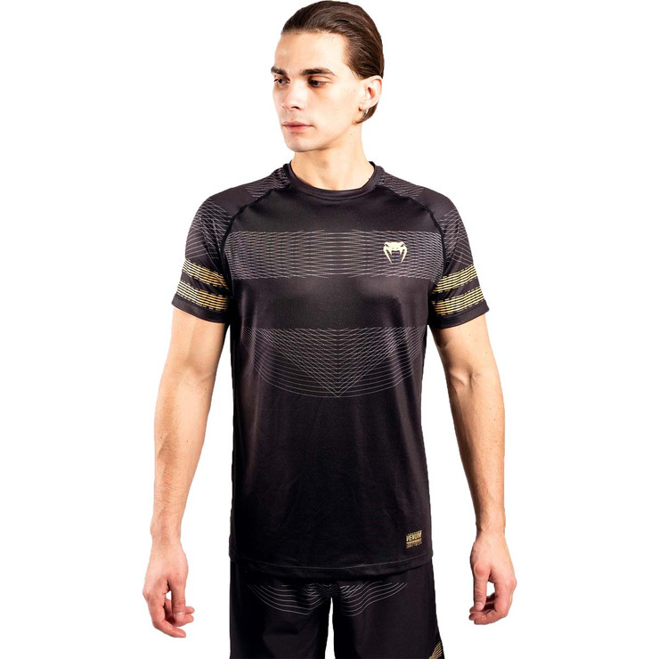Venum Club 182 Dry Tech T-Shirt Black/Gold
