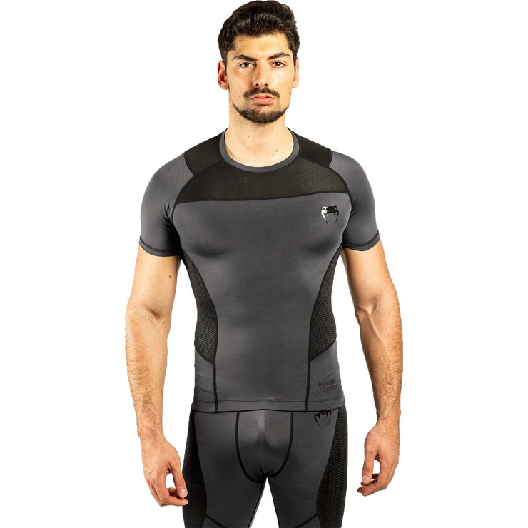 Venum G-Fit Short Sleeve Rash Guard Grey/Black