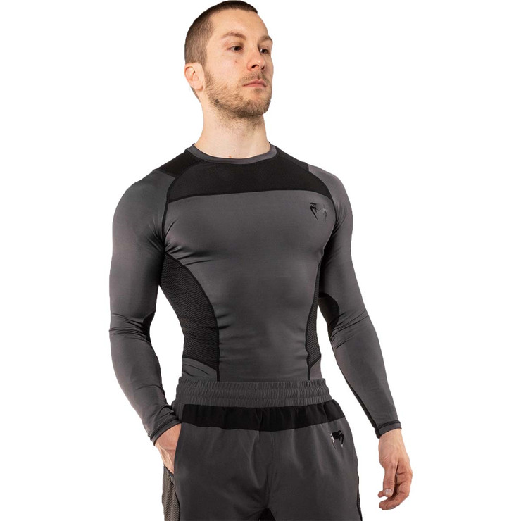 Venum G-Fit Long Sleeve Rash Guard Grey/Black