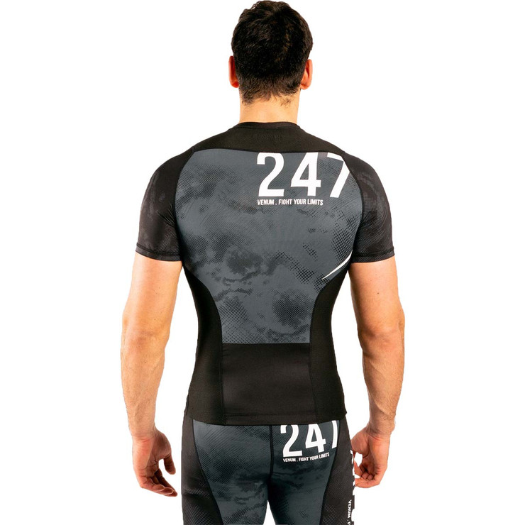 Venum Sky247 Short Sleeve Rash Guard Black/Grey