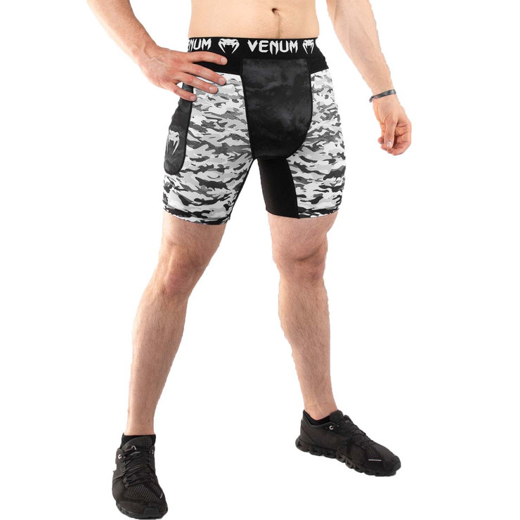 Venum Defender Urban Camo Compression Shorts White/Black
