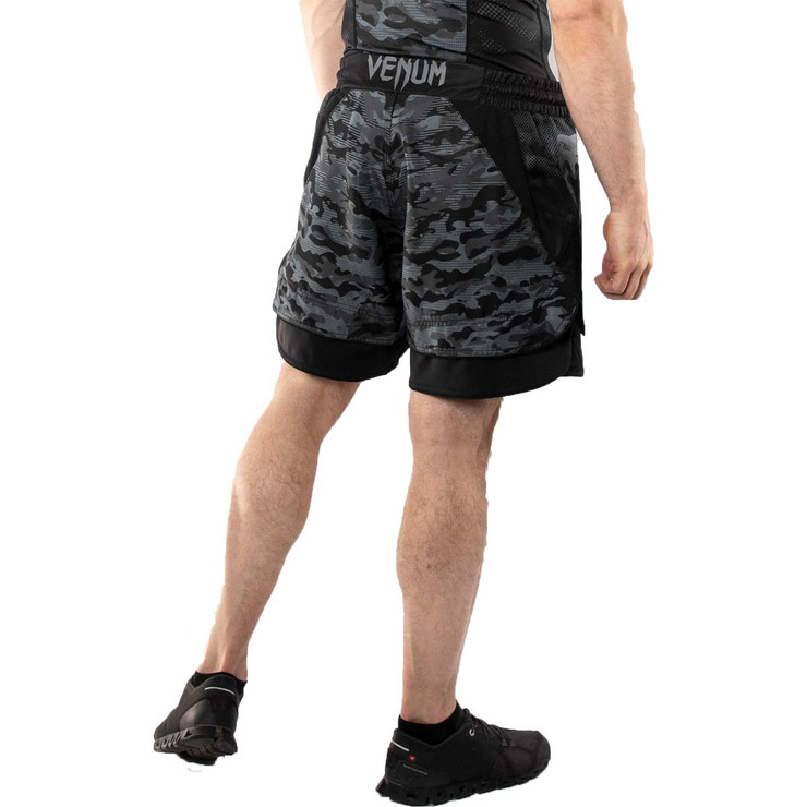 Venum Defender Dark Camo Fight Shorts Black/Grey