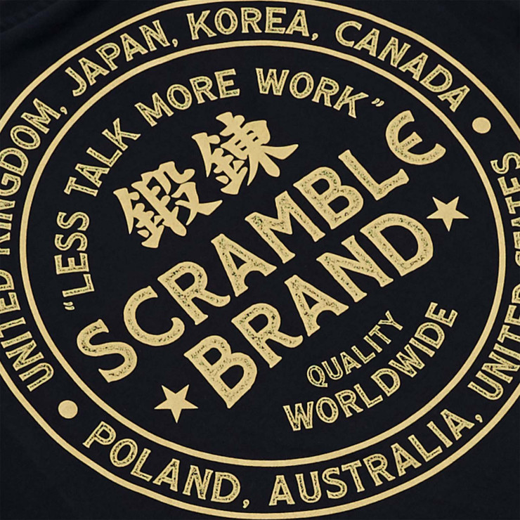 Scramble More Work T-Shirt Black
