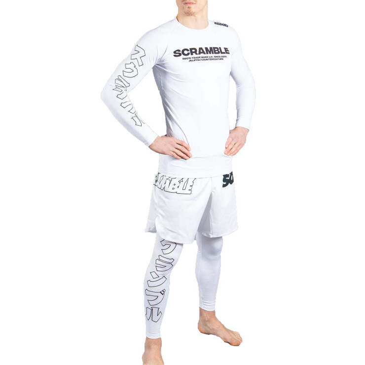 Scramble BASE Long Sleeve Rash Guard White