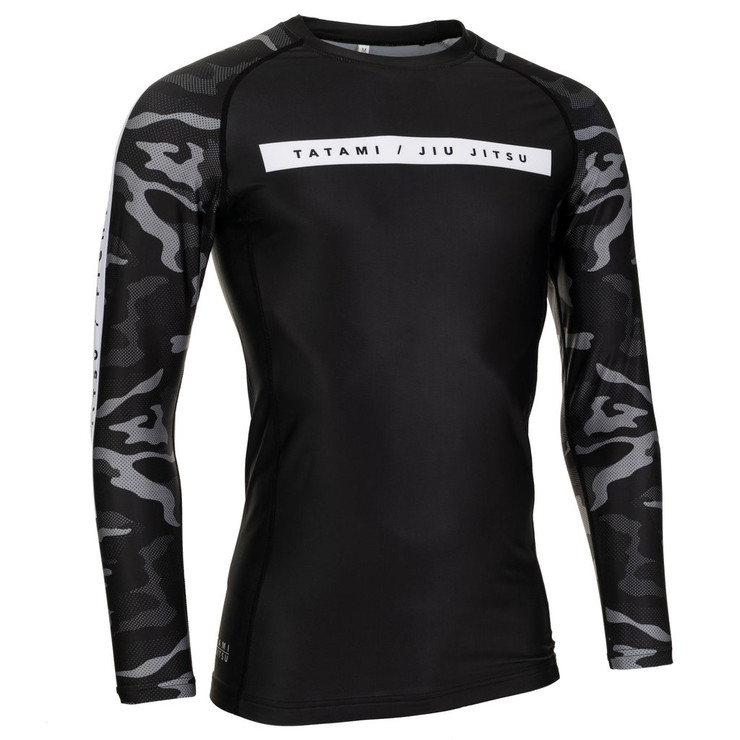 Tatami Fightwear Rival Long Sleeve Rash Guard Black/Camo