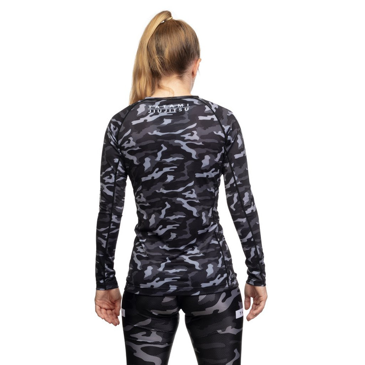 Tatami Fightwear Ladies Rival Long Sleeve Rash Guard Black/Camo
