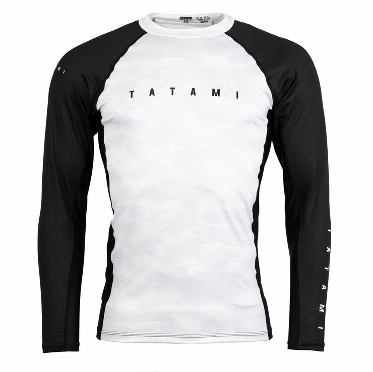 Tatami Fightwear Standard Edition Digital Camo Long Sleeve Rash Guard White