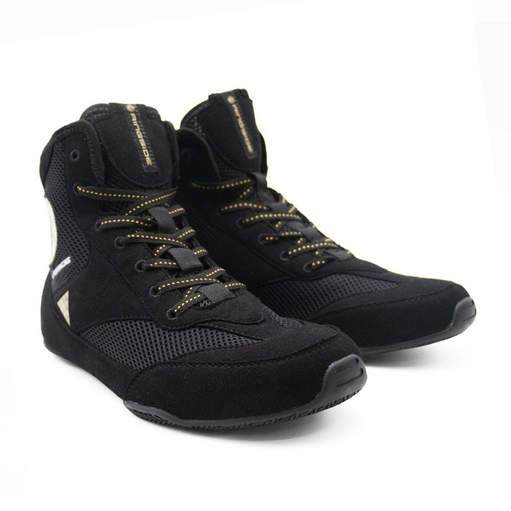 Ringside Pro Apparel Vector Boxing Boots Black/Gold
