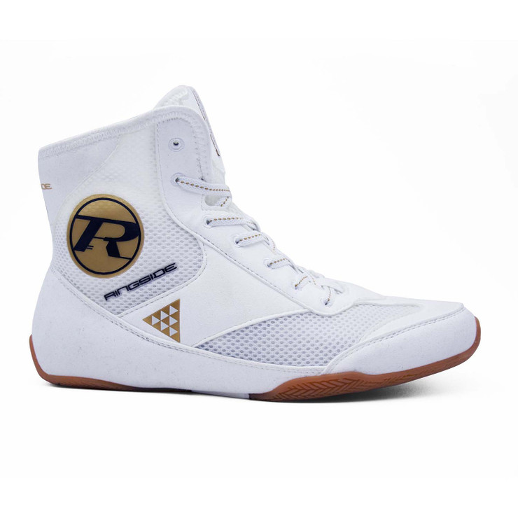 Ringside Pro Apparel Vector Boxing Boots White/Gold