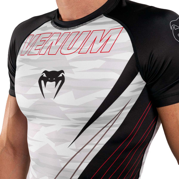 Venum Contender 5.0 Short Sleeve Rash Guard  White/Camo