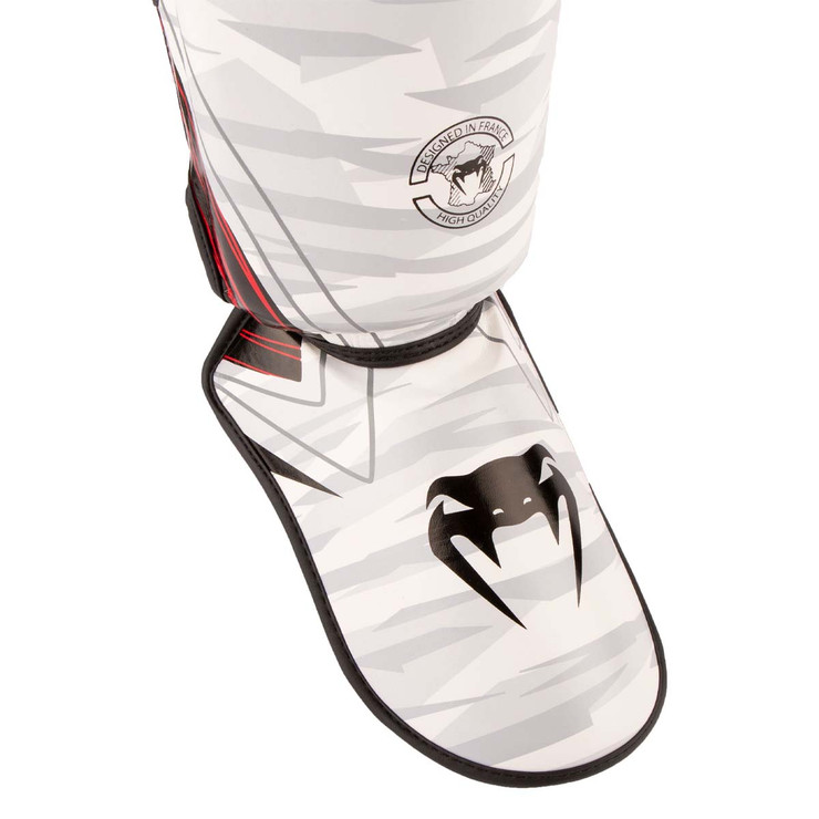 Venum Contender 2.0 Shin Guards  White/Camo
