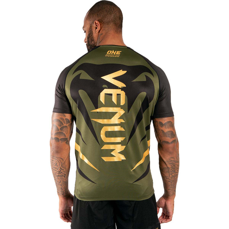 Venum x One FC Dry Tech T-Shirt Khaki/Gold