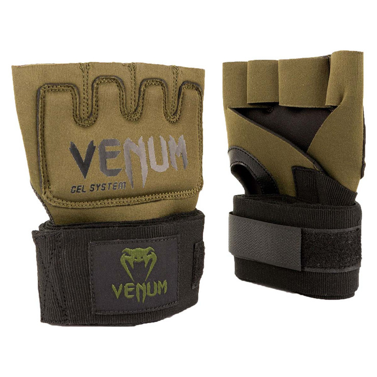 Venum Kontact Gel Wrap Gloves Khaki/Black