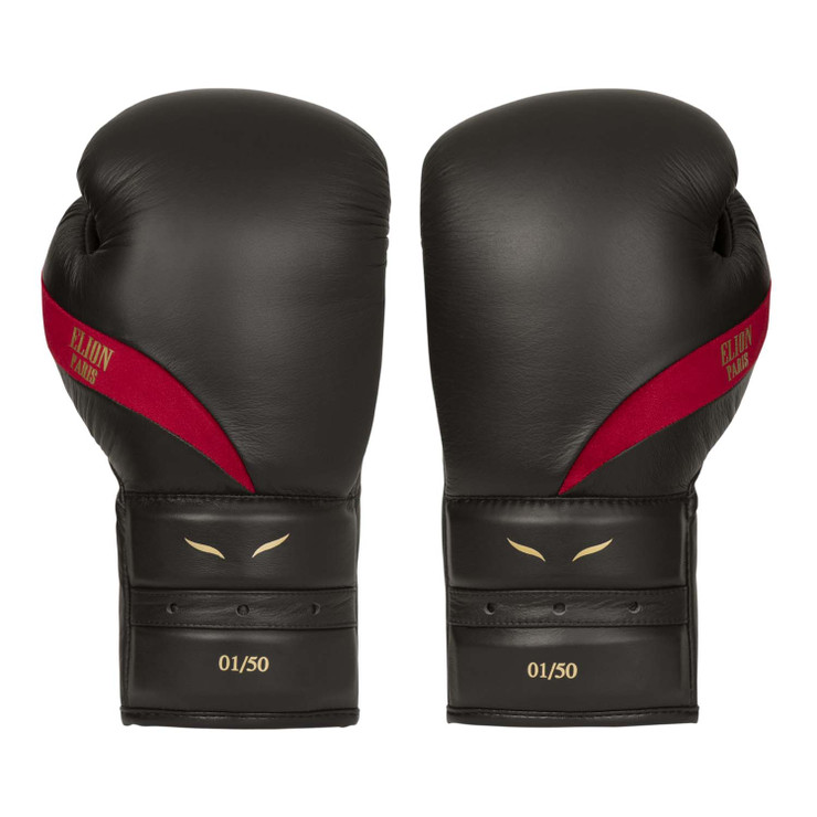 Elion Paris Elegant Boxing Gloves Black/Burgundy