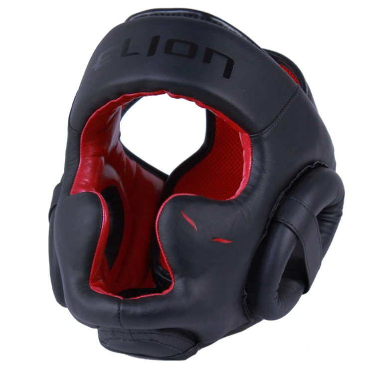 Elion Uncage Full Face Head Guard  Black/Red