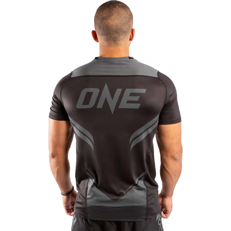 Venum One FC Impact Dry Tech T-Shirt Black/Black