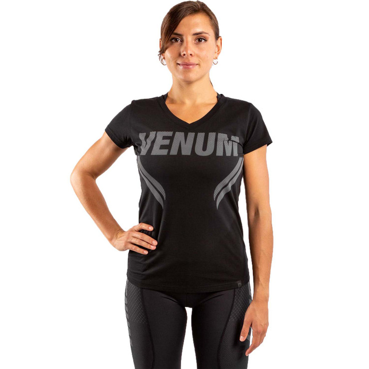 Venum Womens One FC Impact T-Shirt Black/Black