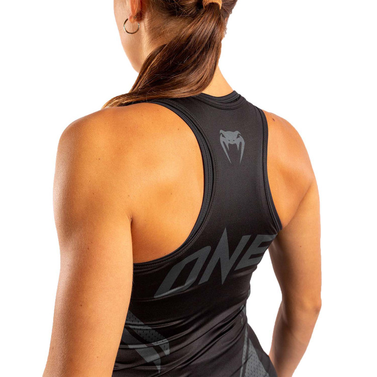 Venum Womens One FC Impact Tank Top Black/Black