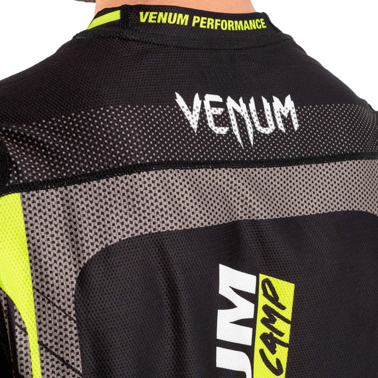 Venum Training Camp 3.0 Dry Tech T-Shirt Black/Neo Yellow