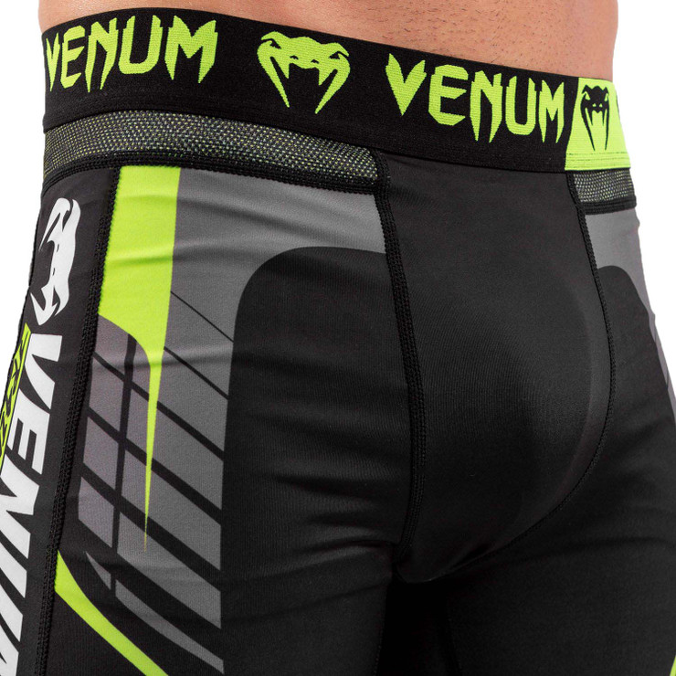Venum Training Camp 3.0 Spats Black/Neo Yellow