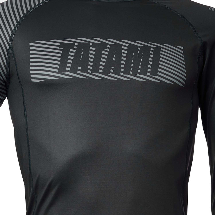 Tatami Fightwear Essential 3.0 Long Sleeve Rash Guard Black/Grey