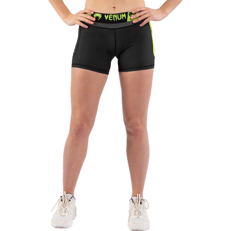 Venum Training Camp 3.0 Women's Compression Shorts Black/Neo Yellow
