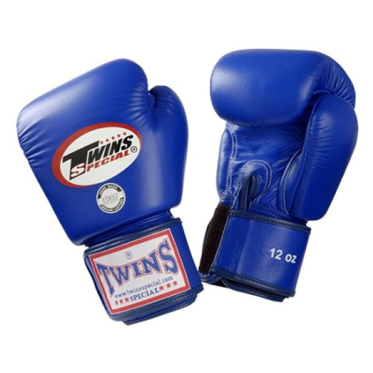 Twins Special BGVL3 Velcro Boxing Gloves Blue